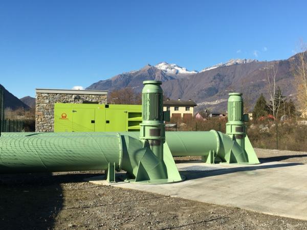Impianto idrovoro Berbenno