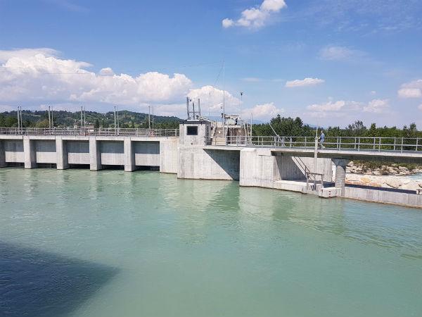 Inaugurazione nuova centrale idroelettrica a Nervesa della Battaglia