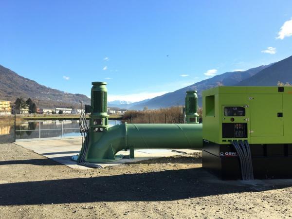 Collaudato l'impianto anti esondazioni a Berbenno di Valtellina